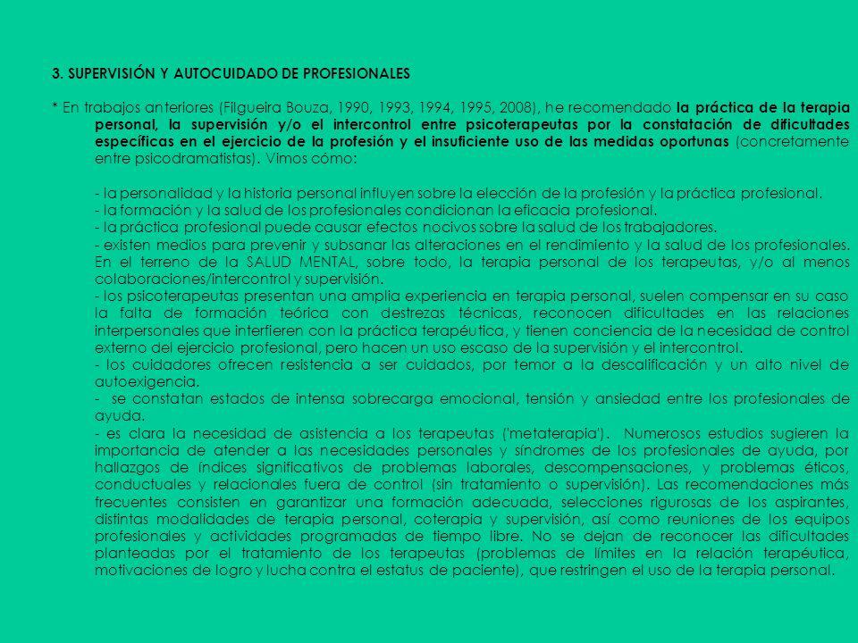 3. SUPERVISIÓN Y AUTOCUIDADO DE PROFESIONALES