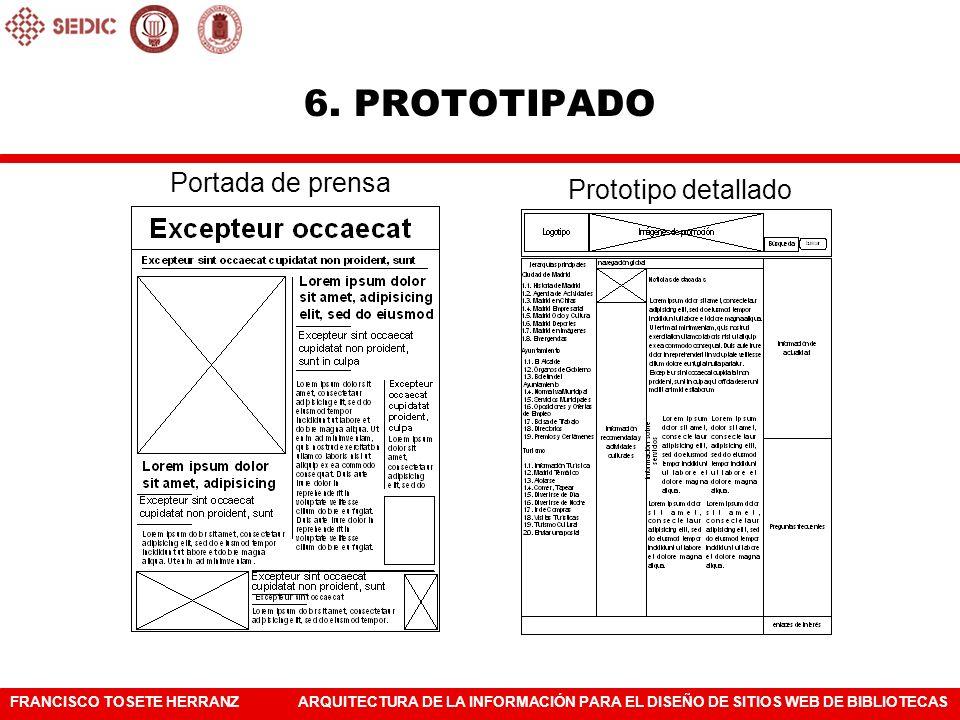 6. PROTOTIPADO Portada de prensa Prototipo detallado