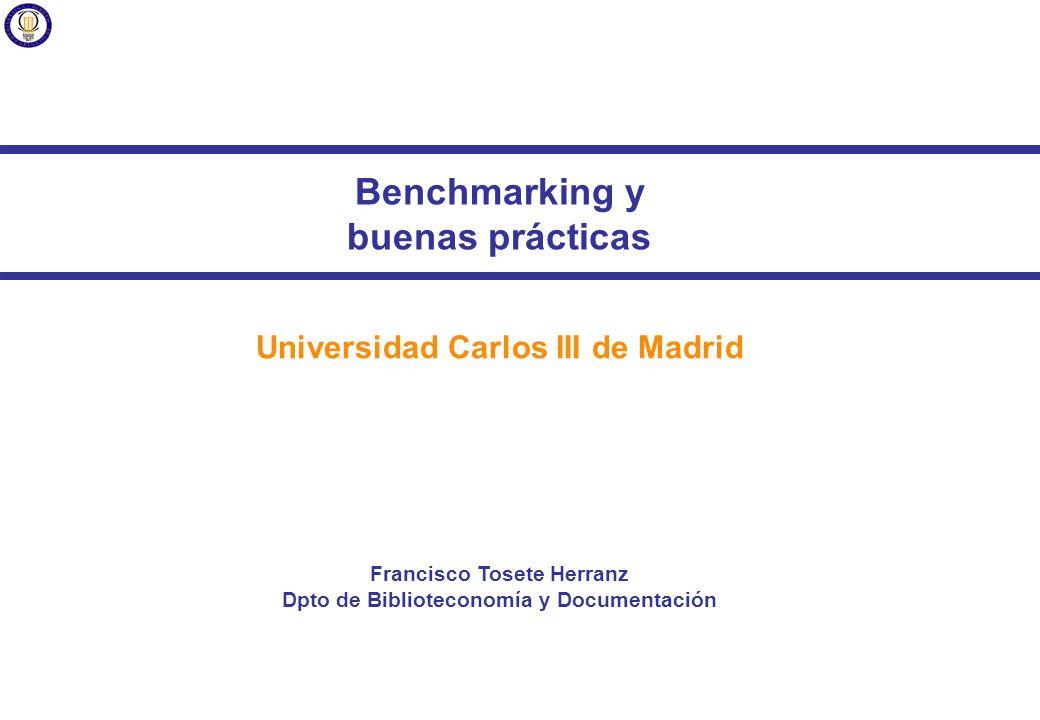 Benchmarking y buenas prácticas