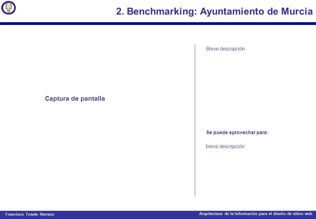 2. Benchmarking: Ayuntamiento de Murcia