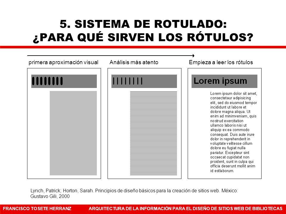 5. SISTEMA DE ROTULADO: ¿PARA QUÉ SIRVEN LOS RÓTULOS