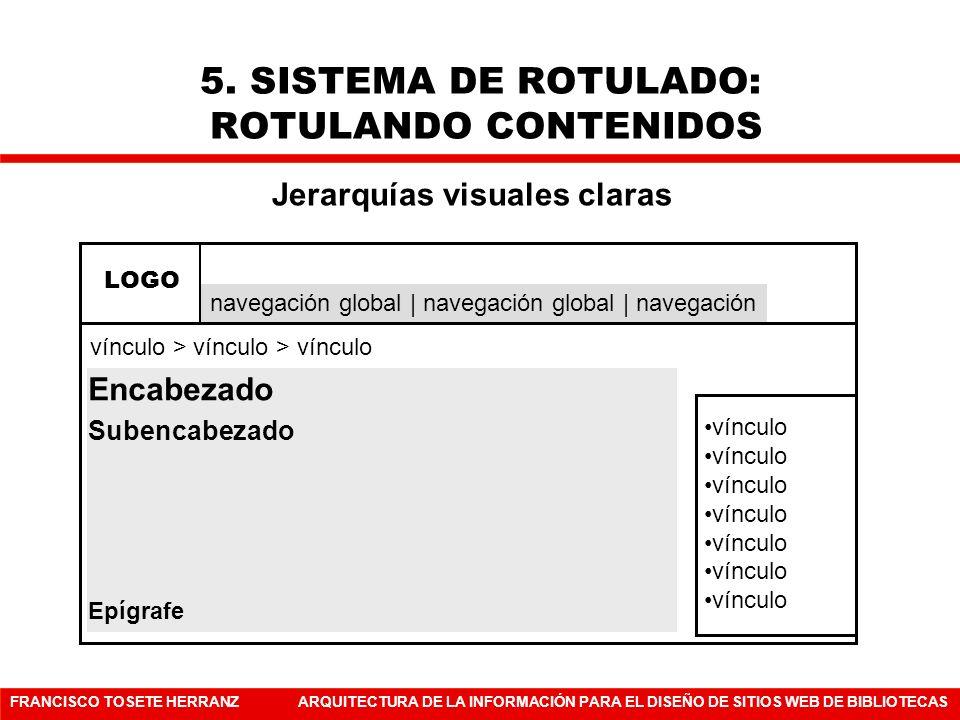 5. SISTEMA DE ROTULADO: ROTULANDO CONTENIDOS