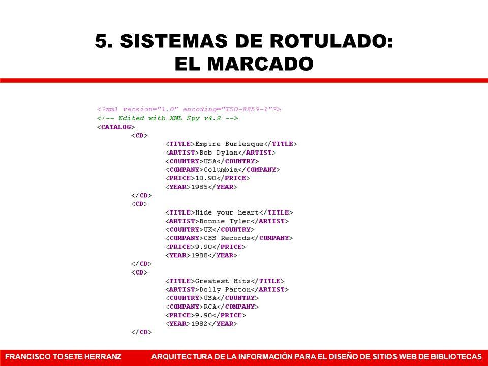 5. SISTEMAS DE ROTULADO: EL MARCADO