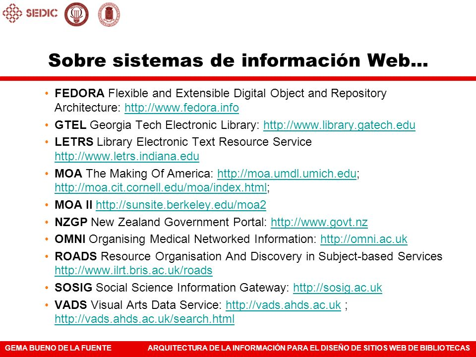 Sobre sistemas de información Web...