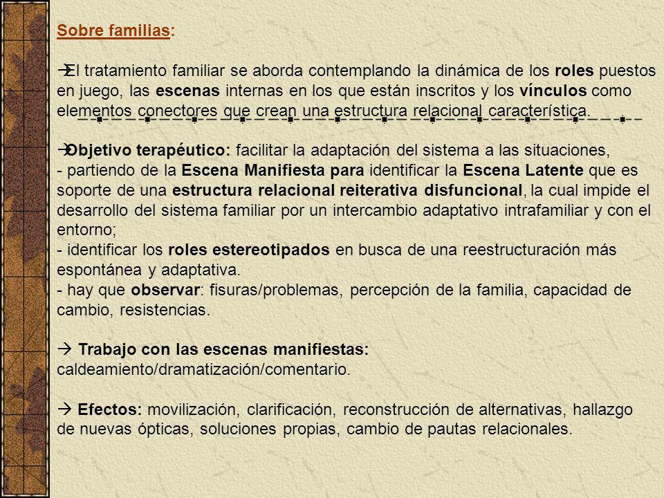 Sobre familias: