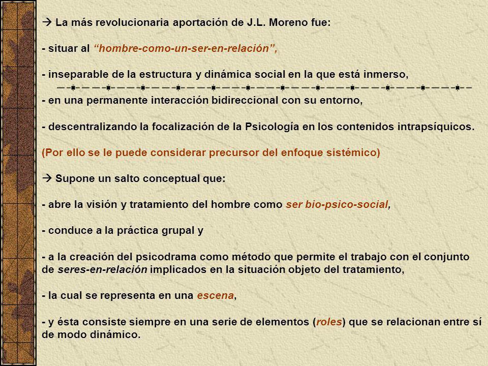  La más revolucionaria aportación de J.L. Moreno fue: