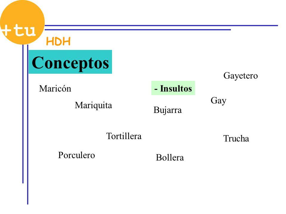 Conceptos HDH Gayetero Maricón - Insultos Gay Mariquita Bujarra