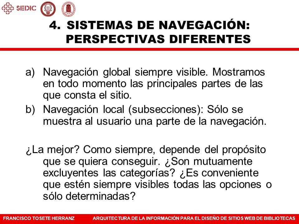 SISTEMAS DE NAVEGACIÓN: PERSPECTIVAS DIFERENTES