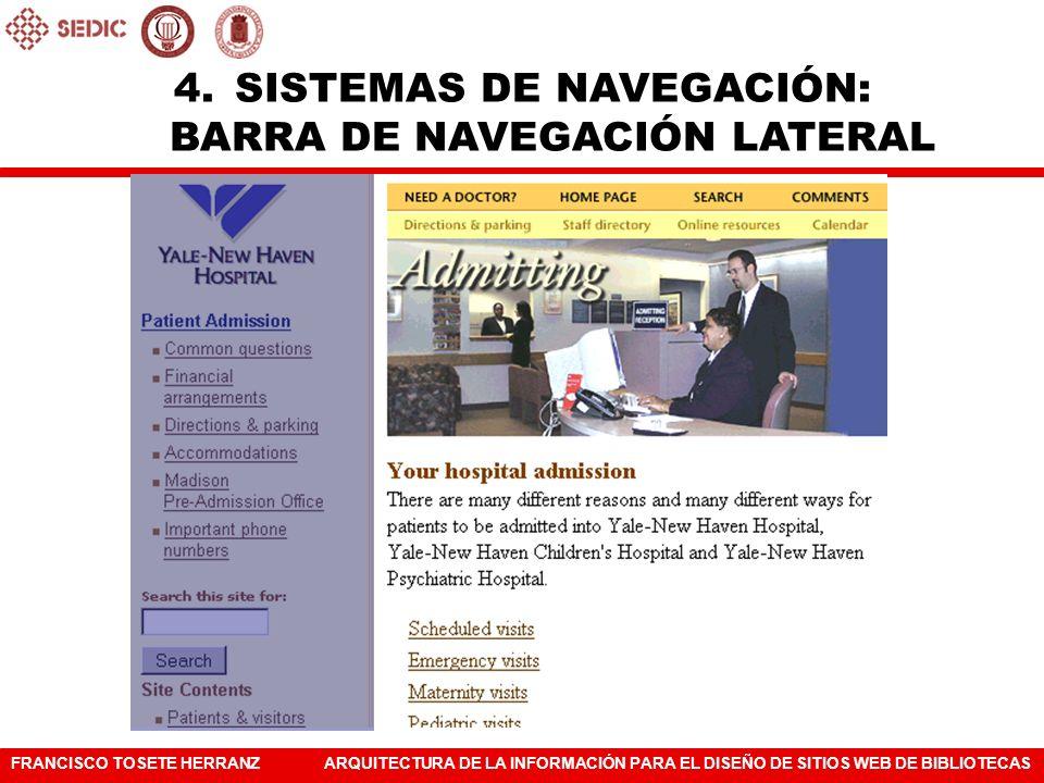 SISTEMAS DE NAVEGACIÓN: BARRA DE NAVEGACIÓN LATERAL