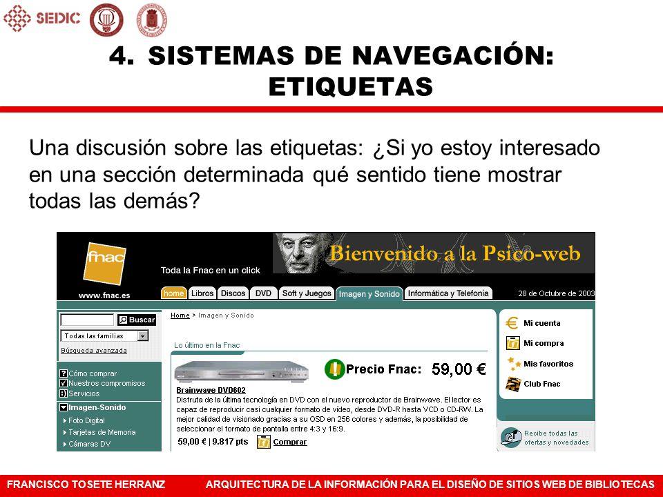 SISTEMAS DE NAVEGACIÓN: ETIQUETAS