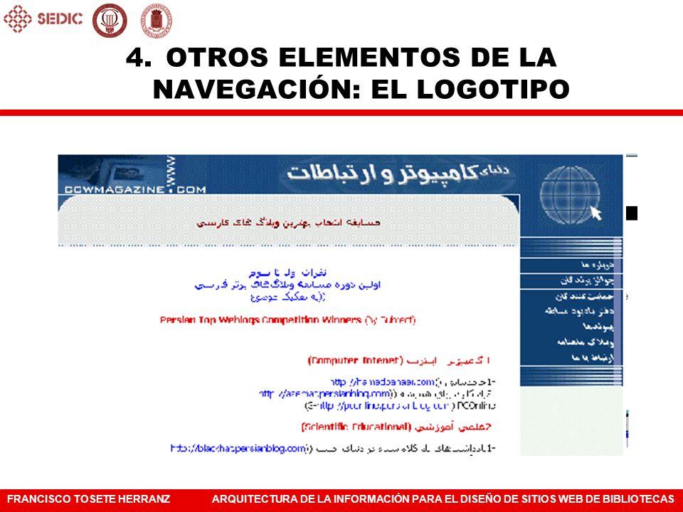 OTROS ELEMENTOS DE LA NAVEGACIÓN: EL LOGOTIPO