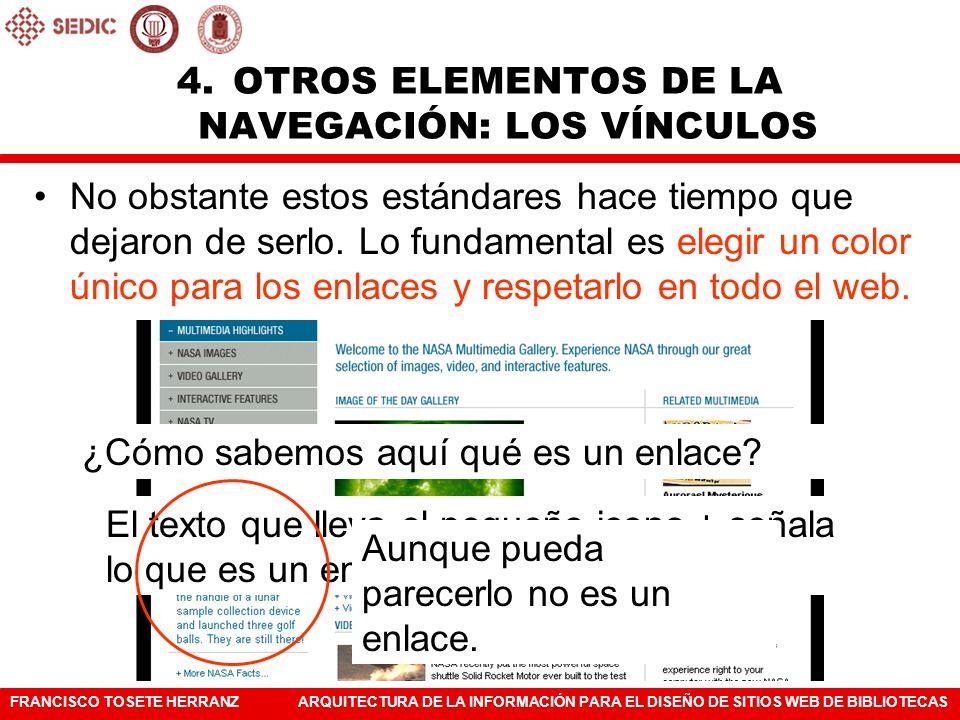 OTROS ELEMENTOS DE LA NAVEGACIÓN: LOS VÍNCULOS