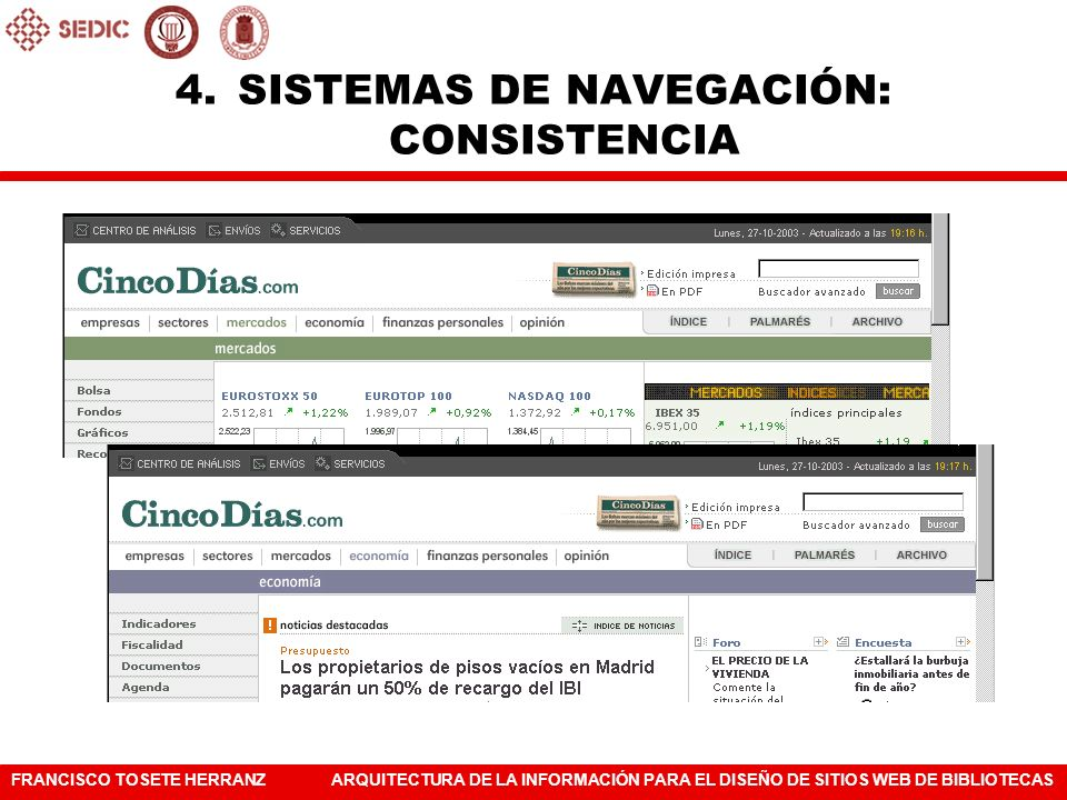 SISTEMAS DE NAVEGACIÓN: CONSISTENCIA
