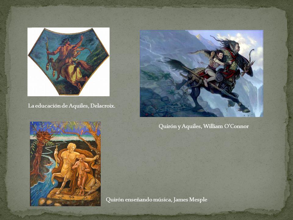 La educación de Aquiles, Delacroix.