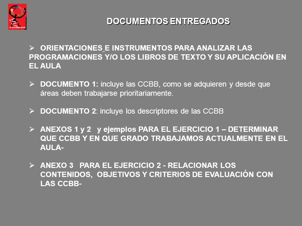 DOCUMENTOS ENTREGADOS