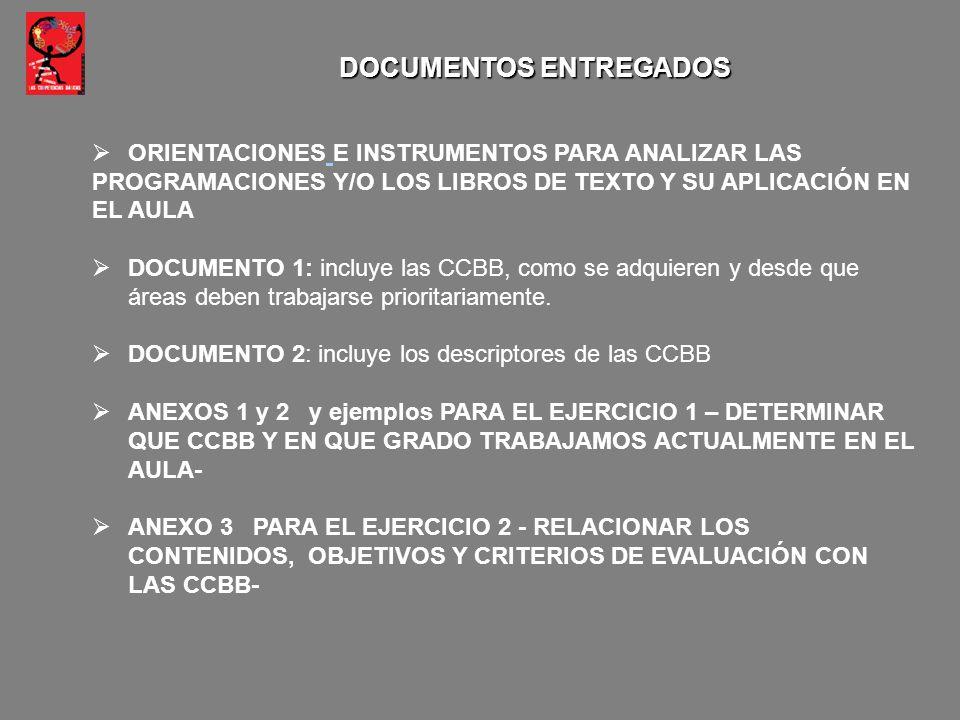 DOCUMENTOS ENTREGADOS