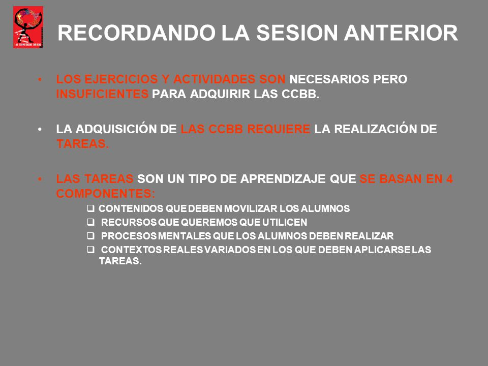 RECORDANDO LA SESION ANTERIOR