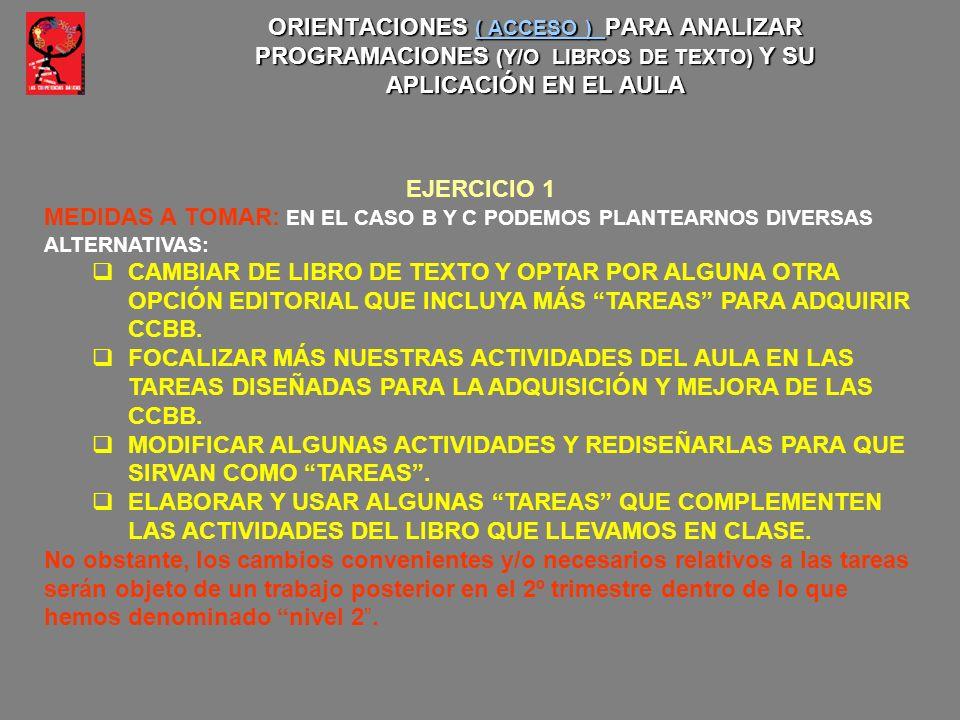 MEDIDAS A TOMAR: EN EL CASO B Y C PODEMOS PLANTEARNOS DIVERSAS