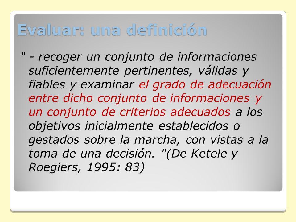 Evaluar: una definición