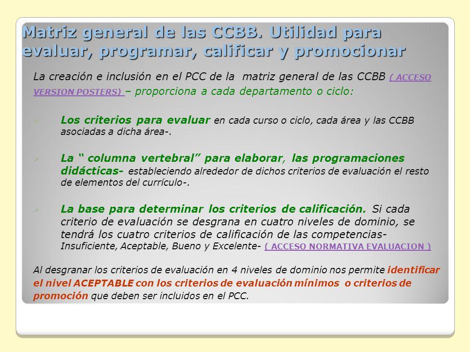 Matriz general de las CCBB