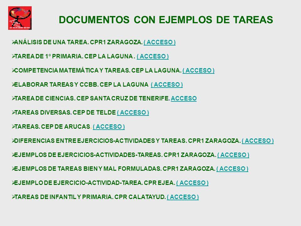 DOCUMENTOS CON EJEMPLOS DE TAREAS