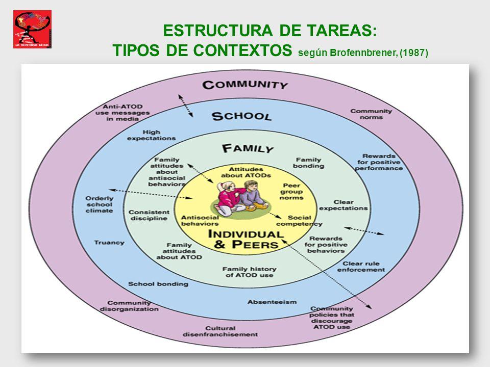 TIPOS DE CONTEXTOS según Brofennbrener, (1987)