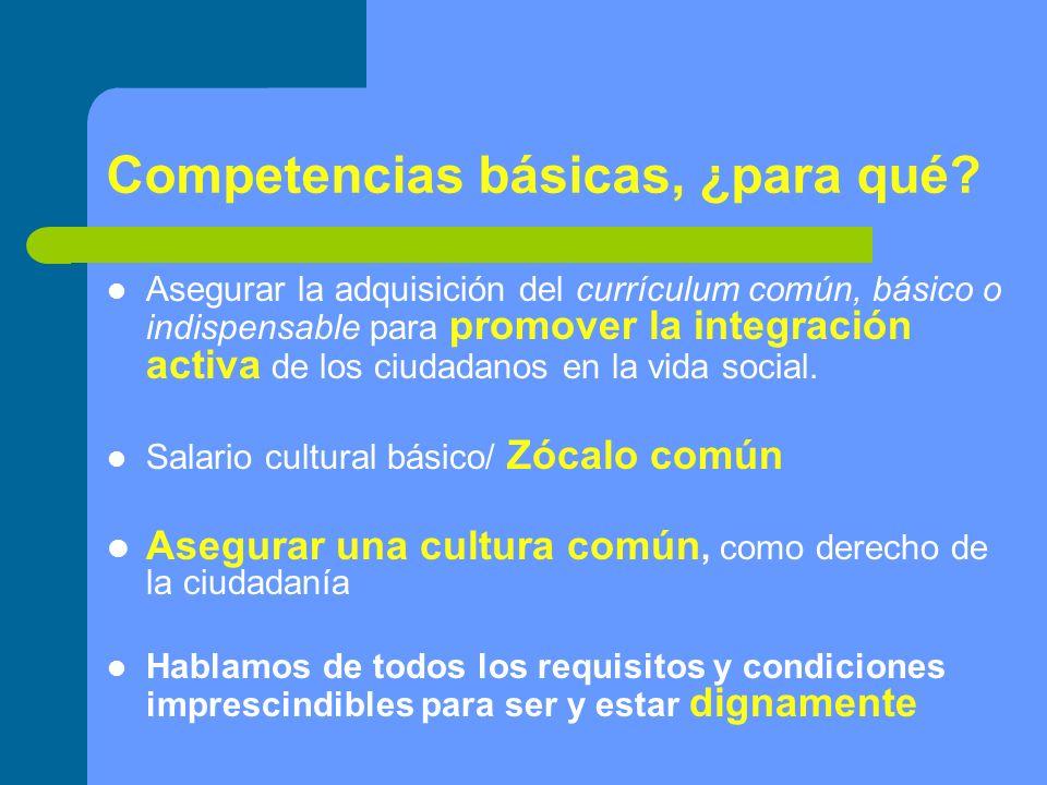 Competencias básicas, ¿para qué
