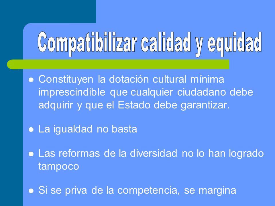 Compatibilizar calidad y equidad