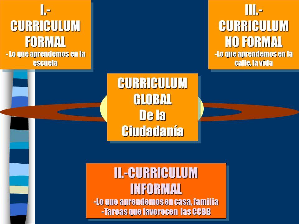 III.-CURRICULUM NO FORMAL