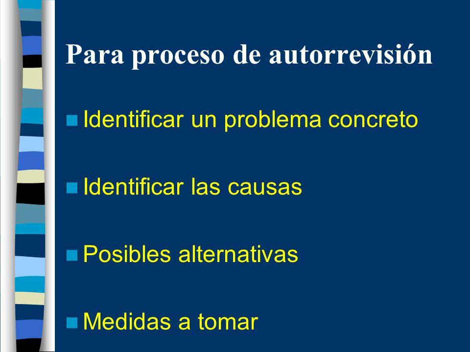 Para proceso de autorrevisión