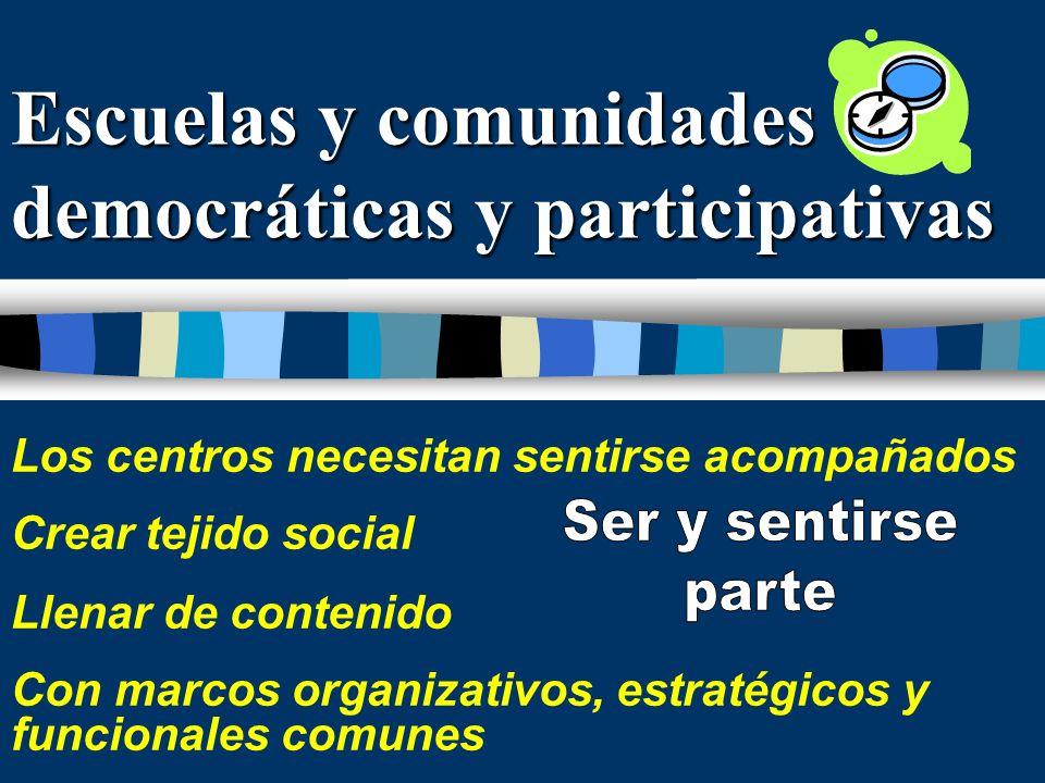 Escuelas y comunidades democráticas y participativas
