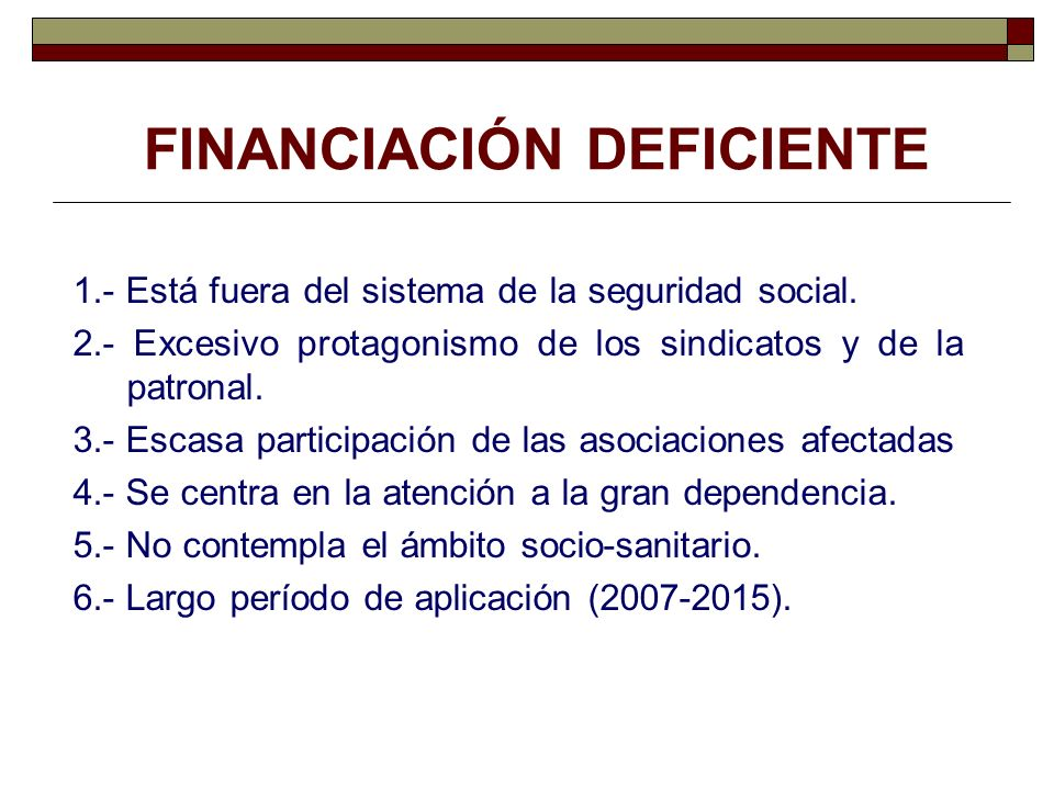 FINANCIACIÓN DEFICIENTE