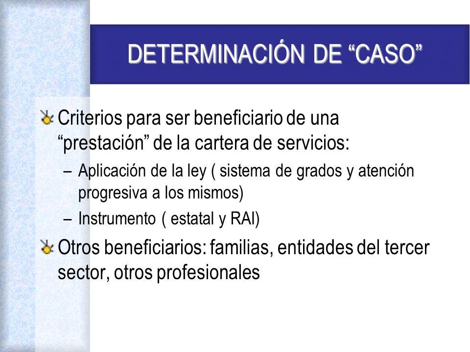 DETERMINACIÓN DE CASO