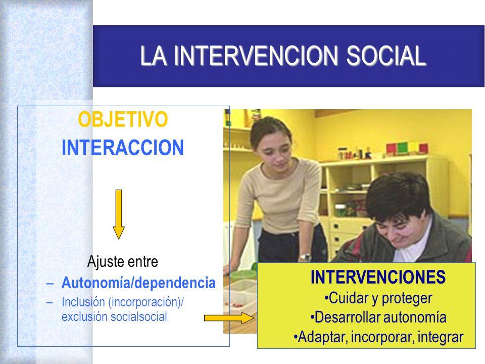 LA INTERVENCION SOCIAL
