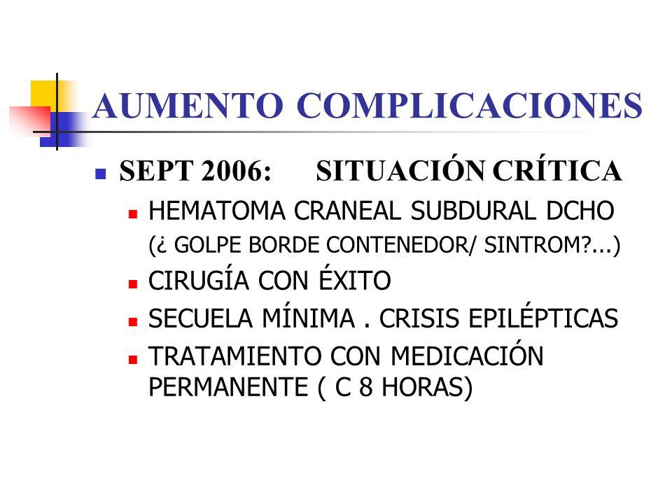AUMENTO COMPLICACIONES