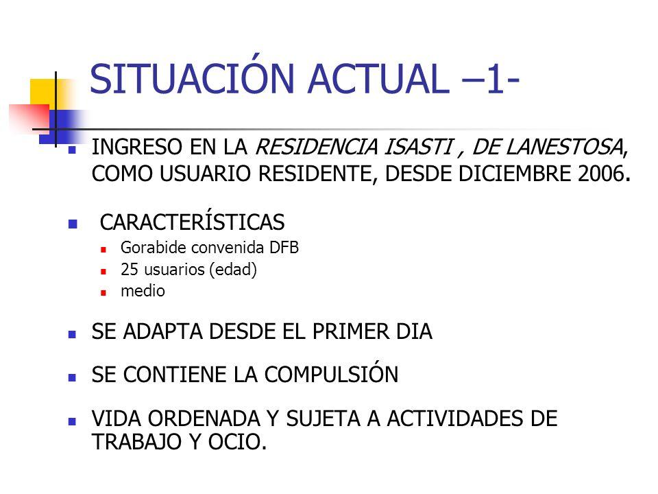 SITUACIÓN ACTUAL –1- CARACTERÍSTICAS