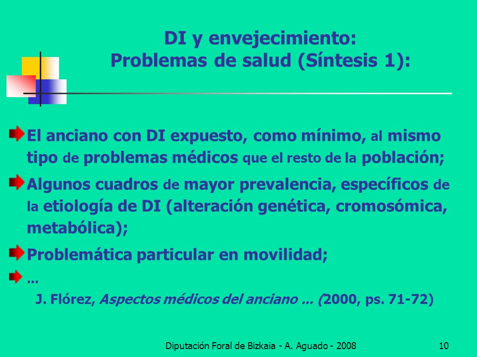 DI y envejecimiento: Problemas de salud (Síntesis 1):