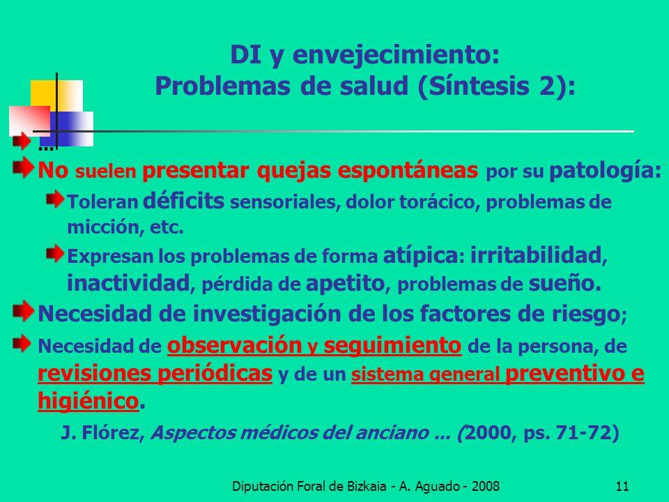 DI y envejecimiento: Problemas de salud (Síntesis 2):