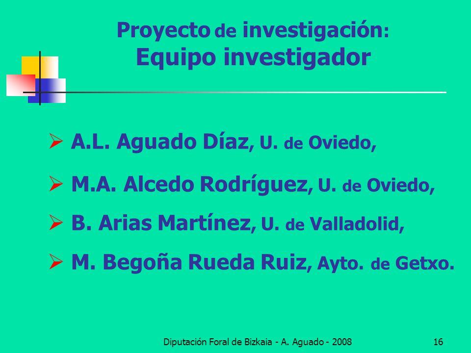 Proyecto de investigación: Equipo investigador
