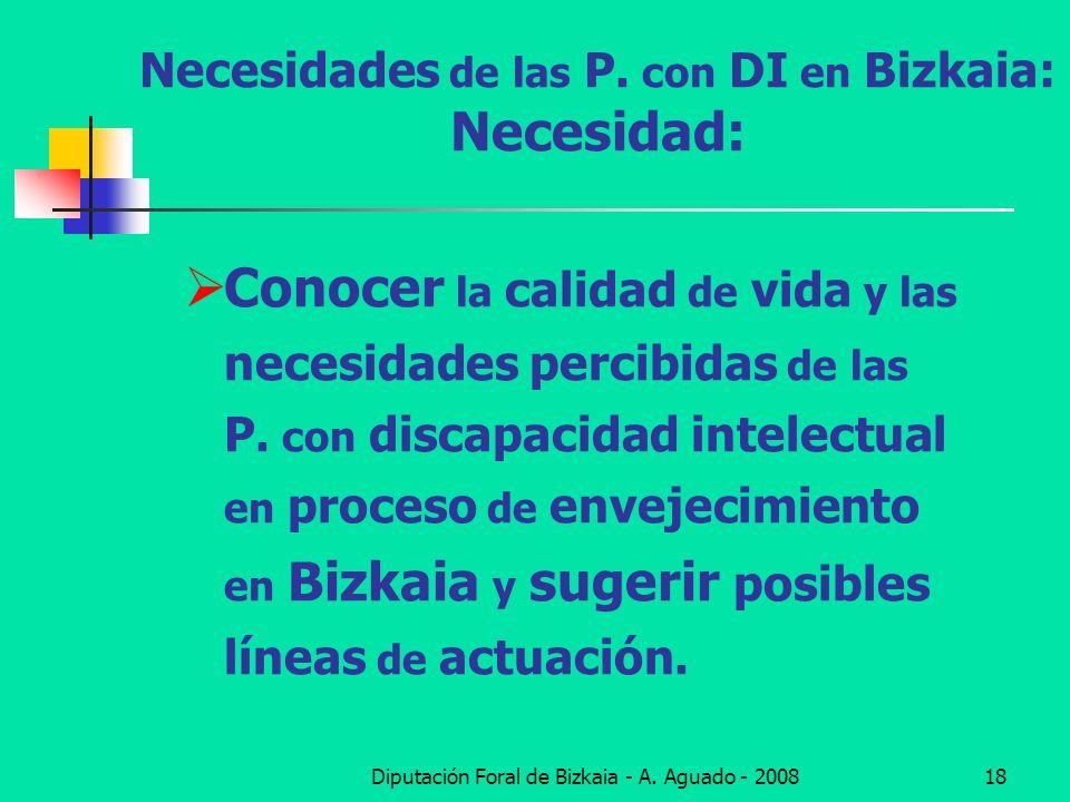 Necesidades de las P. con DI en Bizkaia: Necesidad:
