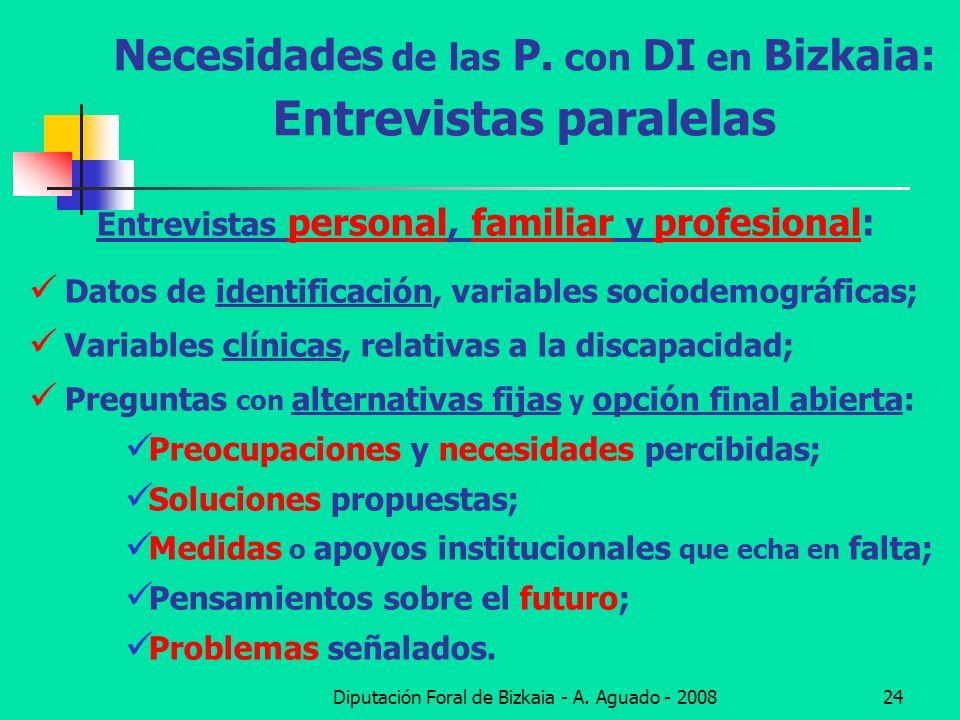 Necesidades de las P. con DI en Bizkaia: Entrevistas paralelas
