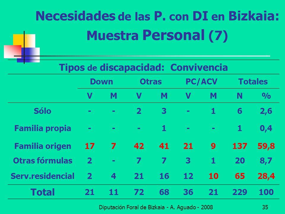 Necesidades de las P. con DI en Bizkaia: Muestra Personal (7)