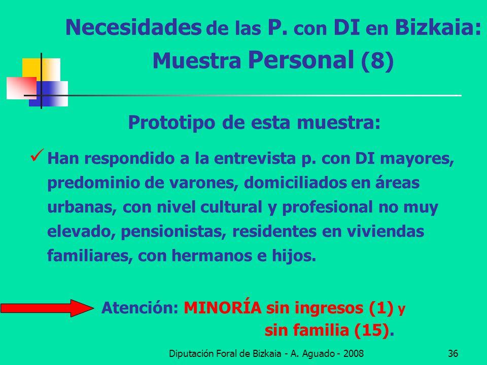 Necesidades de las P. con DI en Bizkaia: Muestra Personal (8)