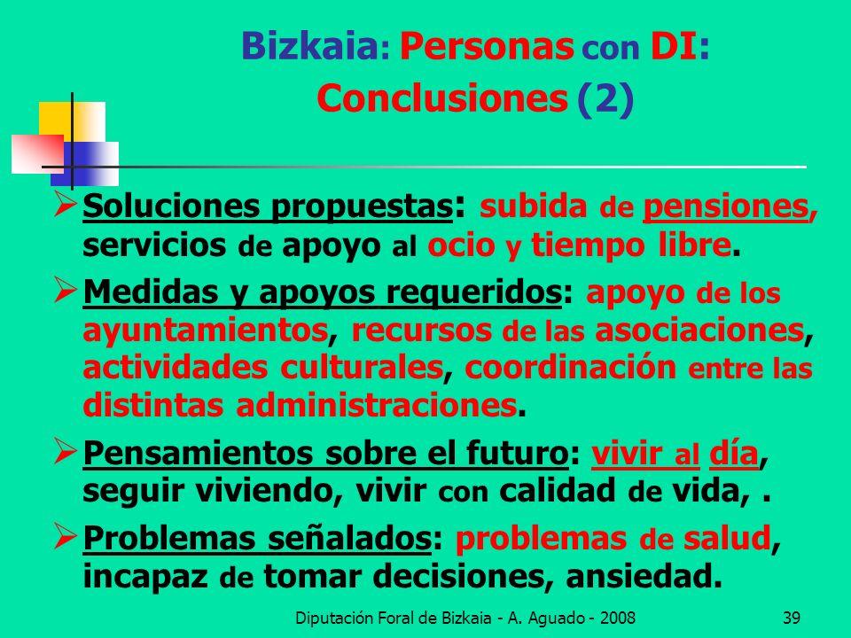 Bizkaia: Personas con DI: Conclusiones (2)
