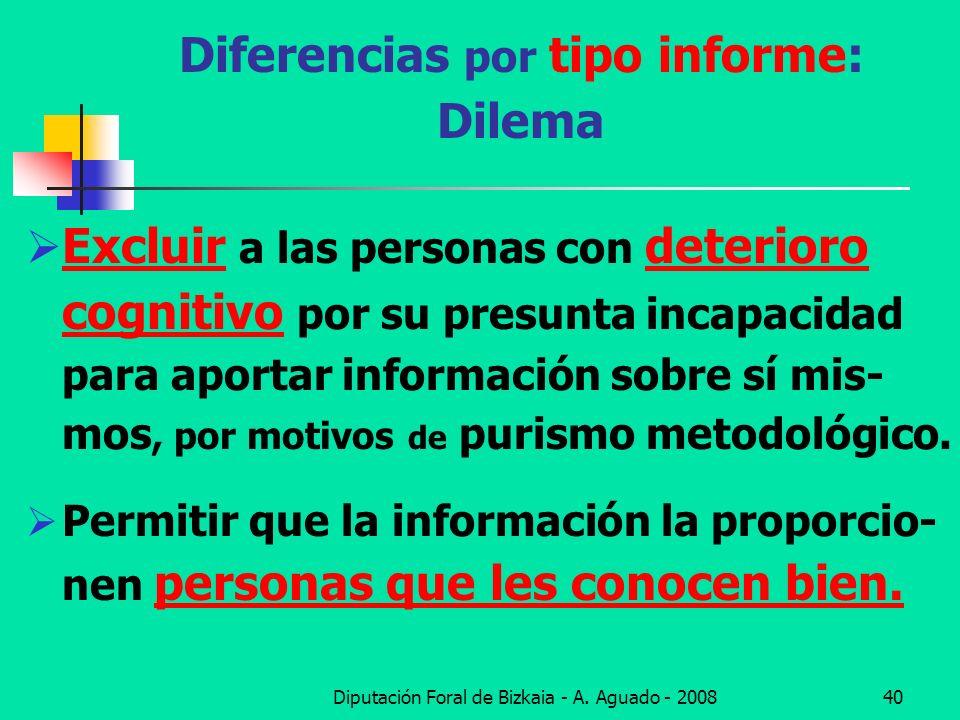 Diferencias por tipo informe: Dilema