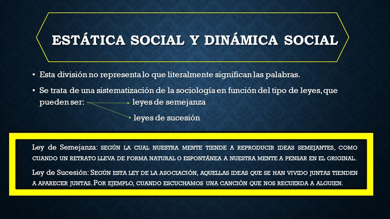 Estática social y dinámica social