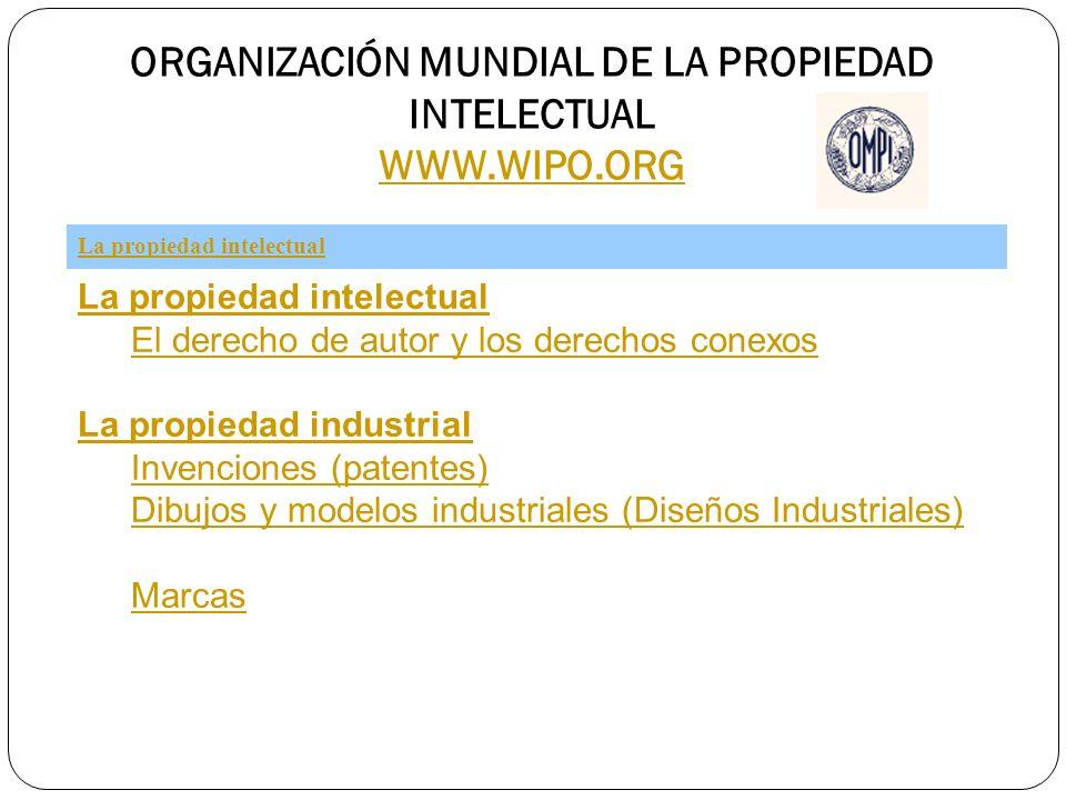 ORGANIZACIÓN MUNDIAL DE LA PROPIEDAD INTELECTUAL WWW.WIPO.ORG