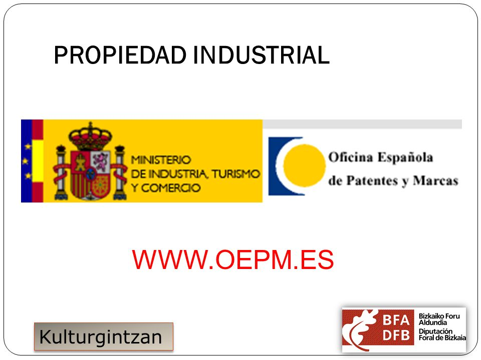 15/11/2011 PROPIEDAD INDUSTRIAL WWW.OEPM.ES