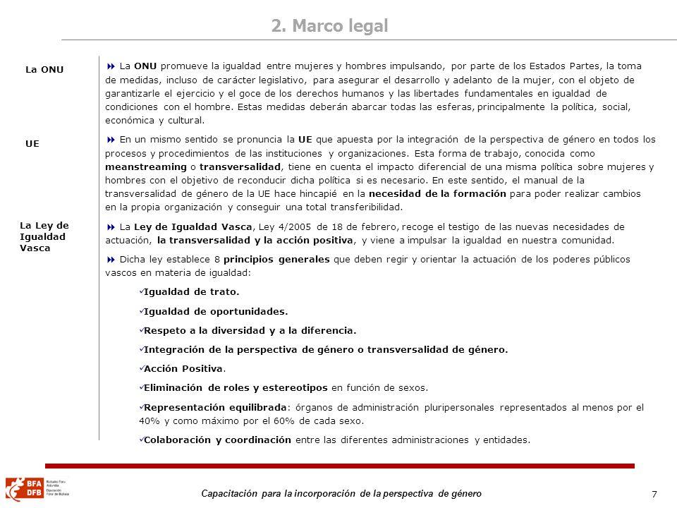 2. Marco legalLa ONU.