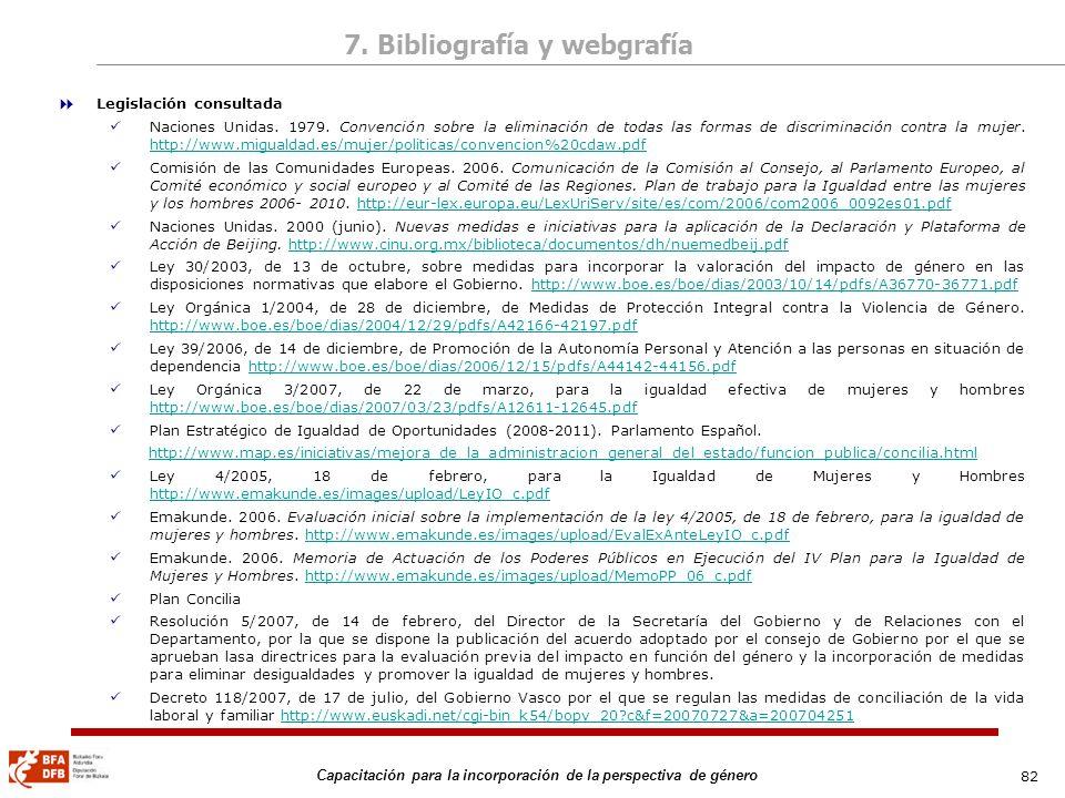 7. Bibliografía y webgrafía